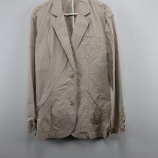 Mens Tan Lightweight Jacket Large DBLA Maison Life After Denim 42R Two Button