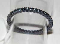 ANELLO ORO 18KT diamanti BLU GOLD RING blue diamonds Bague en or GOLDRING