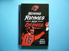 2019 B.C. LIONS CFL CANADIAN FOOTBALL YEARBOOK FACTBOOK MEDIA GUIDE SHARP!! BC