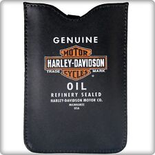 CUSTODIA SMARTPHONE HARLEY VERA PELLE CASE IPOD CELLULARE NERO BLACK LEATHER
