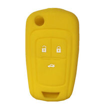 Yellow Silicone Flip Key FOB keyless cover key case fit for Chevrolet Cruze 3B