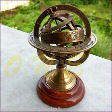 Collectible Brass Antique Astrolabe Armillary Sphere Tabletop Decor Zodiac Gift