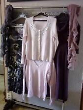 lot vêtements femme T 38 40 robe pull gilet écharpe esprit show girl rose violet