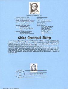 #9018 40c Claire Chennault Stamp #2187 USPS Souvenir Page