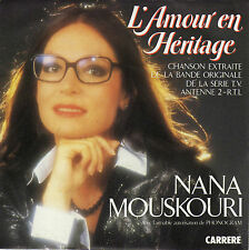 TV OST L'AMOUR EN HERITAGE NANA MOUSKOURI FRENCH 45 SINGLE