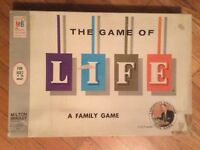 """VINTAGE 1960, LINK RESEARCH CORP, MILTON BRADLEY, """"THE GAME OF LIFE"""","""