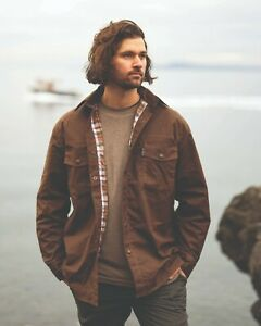 Outback Trading Co. Waxed Cotton Shirt Jacket - Bronze - Large ( 30305 )