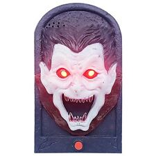 Halloween Hanging Doorbell With Lights & Sounds Party Decorations~Scary Dracula