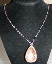 """Charter Club Rose Gold Tone Reversible Stone Teardrop 34"""" Necklace NWT $26"""