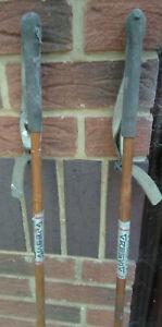 Vintage Bamboo ResVig 126cm  Ski Poles