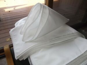 "180 pcs. WHITE FABRIC CLOTH 18"" NAPKINS, Dinner Table Dining Wedding Restaurant"