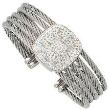 Modeschmuck-Armbänder im Armspange-Stil aus Edelstahl mit Kristall