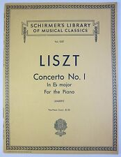 Liszt Concerto No.1 in E Flat Major for Two Pianos Vintage Good+++ Condition!