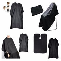 BLACK HAIRDRESSING HAIR CUTTING CAPE BARBER HAIRDRESSER SALON EQUIPMENT GOWN