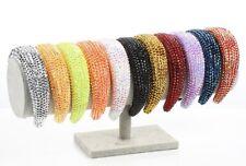 New women  fashion plastic multicolor rhinestone crystal qualiry  wide headband