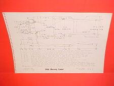1966 MERCURY COMET CYCLONE GT CALIENTE CONVERTIBLE CAPRI FRAME DIMENSION CHART