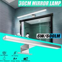 600 Lm Lampe Miroir Avant Lumière 30cm Eclairage Salle De Bain Applique Murale