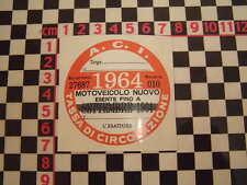 Imposta ITALIANO DISCO 1964-FIAT 500 600 126 LANCIA BETA GIULIETTA ALFA GTV6 ABARTH