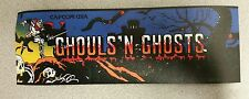 Ghouls N Ghosts marquee sticker. 3.25 x 10. (Buy any 3 stickers, Get One Free!)