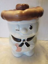 VINTAGE RARE CERAMIC PILSBURY COOKIE JAR WINKING CHEF HAT DOUGH BOY BOBBY BAKER