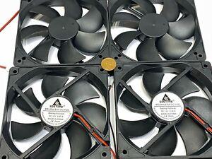 4x GDSTIME Computer Case fan Large 12V 2Pin 120mm 25mm gda blower 1225 12025 G20