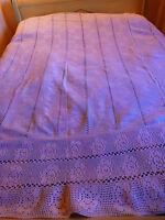 vintage , art déco dessus de lit  crochet main coton  ,protége canapé ,fauteuil