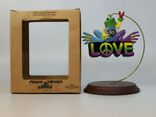 Kurt S. Adler Ornament 2011 Love - Peace Frogs Collection - #610157-LV-SDB