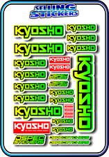 KYOSHO MODEL RC CAR DRONE BOAT BUGGY MINI Z STICKERS DECALS ROBOT R/C YEL/GRE B