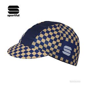 Sportful MATE Lightweight Mesh Summer Cycling Cap : BLUE TWILIGHT/GOLD/BLACK