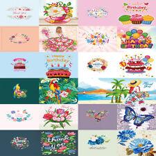 12x DIY Diamond Painting Greeting Cards Postcards Birthday Thanks Creative Decor