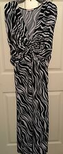 Zebra Print Dress Size 20/22W Sleeveless Back Tie  Wishes Wishes Wishes