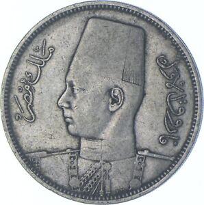 Better Date - 1939 Egypt 5 Qirsh - SILVER *638