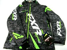 FXR Boost HydraXPro Waterproof & Breathable Snowmobile Jacket 2XL Gray/Digi/Lime