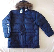 Columbia Men`s Portage Glacier Down Long Jacket with Faux Fur Trim XXL New $250