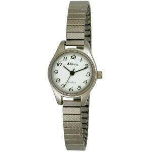 Ravel Ladies Petite Cocktail Silver  Colour Round Expander Bracelet Watch