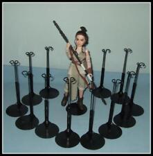 12 BLACK Action Figure DISPLAY STANDS fit STAR WARS Forces Of Destiny