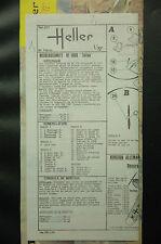 1/72ème PLAN DE MONTAGE POUR MESSERSCHMITT BF 108B TAIFUN - POUR MAQUETTE HELLER