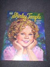 1986 Shirley Temple Paper Doll Book From Whitman Book 1976 Mint Uncut