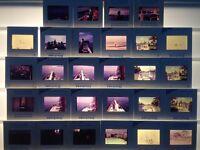 Lot of 28 Vintage 1970s Boating Sailing Ocean Ektachrome Photograph Color Slides