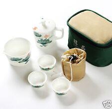 10 Piece Tea Set Teapot+Sharing Mug+6 Small Tea Cup+Cup Bag+Zipped Travel Case