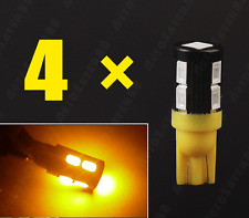4X Yellow T10 Wedge 5630 10SMD LED Backup Turn Side Marker Light
