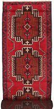 2015 # Tribal Handmade Afghan Wool Hallway Baluchi Long Runner Rug 392 x 84 cm