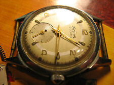 Rare Action fancy lugs,stainless steel French wrist watch,two tone dial,thin