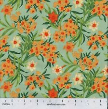 Flower of the Month DAFFODIL GREEN March Northcott Fabric By the FQ - 1/4 YD