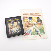 Missile Command for Atari 2600 Game Cartridge and Instruction Manual - TESTED