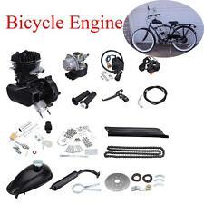 80cc 2-stroke schwarz Motor Kit Fahrrad Motorisierte Benzin Motor Schalldämpfer