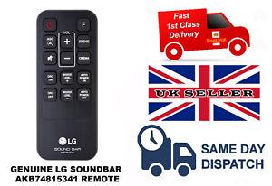 GENUINE ORIGINAL LG SOUNDBAR REPLACEMENT REMOTE AKB74815341