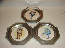 "3 Wilton "" In the Center Ring"" Plates, Clowns, Light Up My Life, Solitaire, Just"