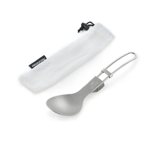 Titanium Alloy Outdoor Travel Spoon Folding Tableware