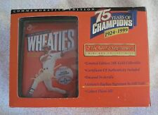 Mark McGwire Mini Wheaties Box 75th Anniversary 24K Gold Sig Ed-Original Pkg